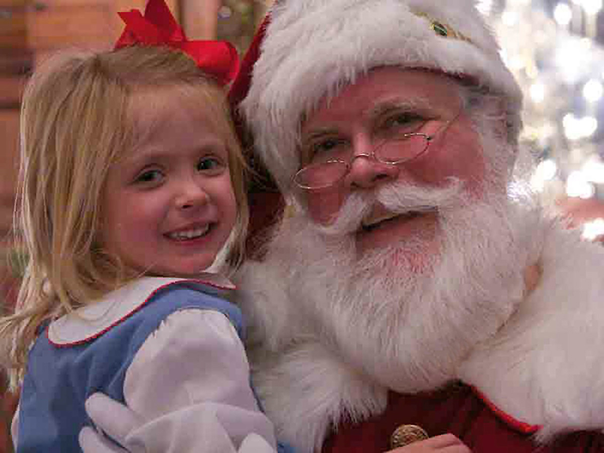 Fabled Santa with child